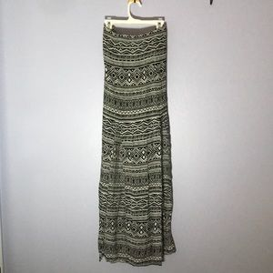 Slitted Maxi Skirt